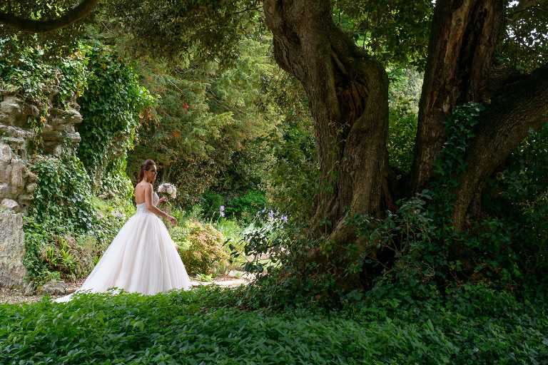The bride at St Audries Park Somerset, Somerset wedding photographer Michael Riley
