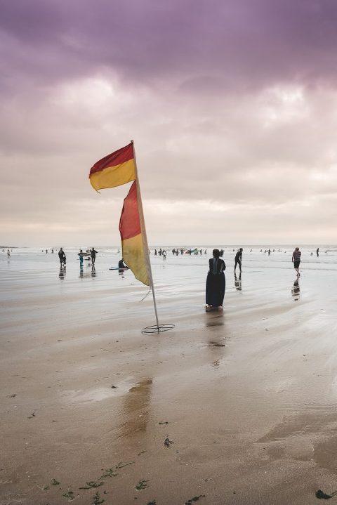 lifeguards flag at Croyde Bay