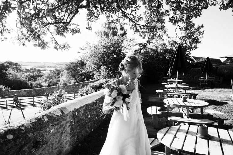 The bride by reportage wedding photographer Michael Riley