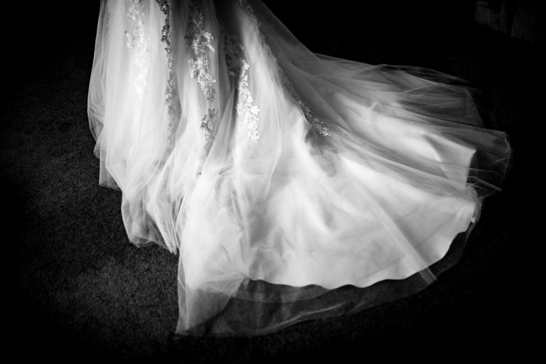the wedding dress train